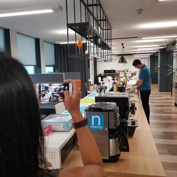 Vonage - Cool kitchen with loads of snacks, bagels, crumpets, fruit and more!