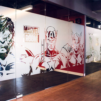 SweetLabs - Marvel vs DC Conference Rooms
