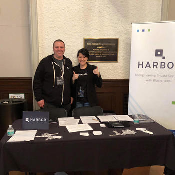 Harbor - Participating in a blockchain career fair at UC Berkeley
