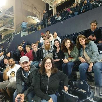 Portfolium - Team outing at the Padres game
