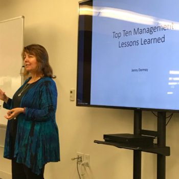 Swift Navigation - Sr. Director, Jenny presents 10 Management Lessons Learned at a Tech Talk (April 2018)