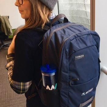 MyVest - New swag time! Loving our new backpacks!