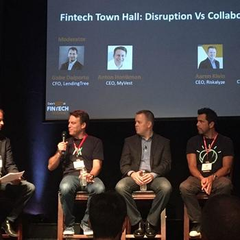 MyVest - Our CEO rocking the MyVest tee on his panel at the Benzinga FinTech Summit