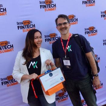 MyVest - Our marketing team: winners for People's Choice Award for Best Exhibitor at Benzinger FinTech Summit
