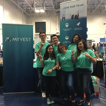 MyVest - Our awesome recruiting team @ UC Berkeley Career Fair