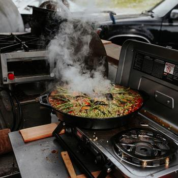 Hipcamp - Team campout paella, yes please!