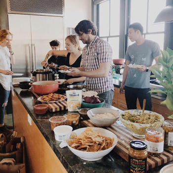 Hipcamp Inc. - Team taco bar, we absolutely love cooking meals together in our kitchen