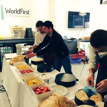 WorldFirst - Taking Pancake Day very seriously in London