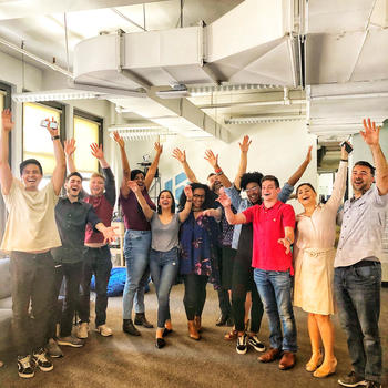 SecurityScorecard - Overjoyed after an hour-long Laughter Yoga session!
