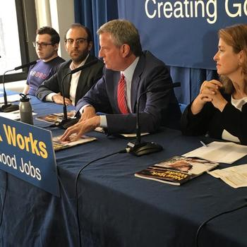 SecurityScorecard - We hosted NYC mayor Bill de Blasio for a press conference announcing 100,000 new jobs across various industries including cybersecurity.