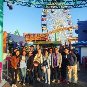 "Gem - The team went to Santa Monica Pier for ""Tourist Day"" during Spirit Week."