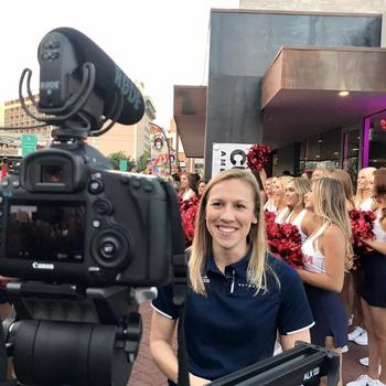 The Relish Media Group - On location with Pac-12 Networks / 49ers reporter, Kate Scott