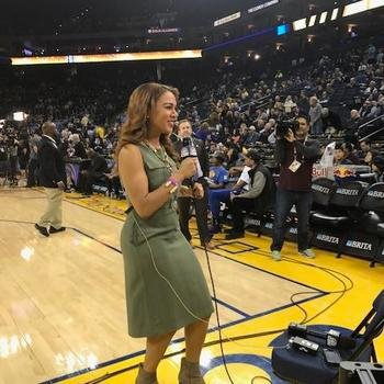 The Relish Media Group - On location with NBA reporter and former Warriors sideline reporter, Ros Gold Onwude