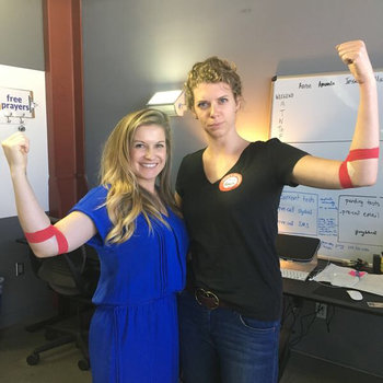 Pray.com - Feeling strong after our Q2 company blood drive... that's 6 lives saved right there!