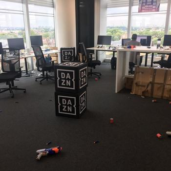 DAZN - It was a tough battle but we emerged victorious! #DAZN #nerfgun-aftermath