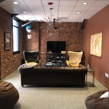 LoungeBuddy - The LB Airport Lounge at our office