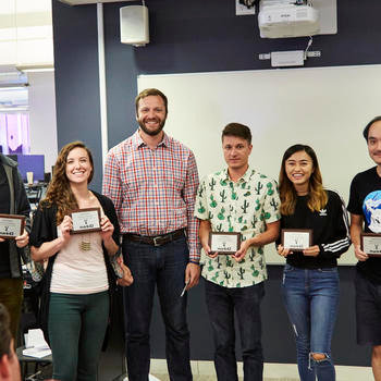 Mark43 - Presenting team award for best new product feature - Hackathon 2018