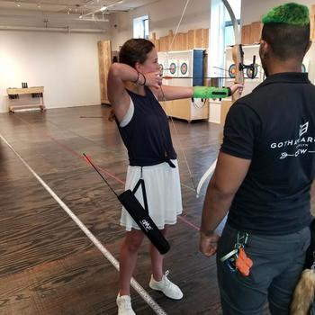 Mark43 - Archery lessons during a recent social event!