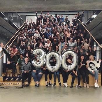 Blend - As of May 1st, 2018, Blend officially has 300 full-time employees across the U.S., and we are so very excited. We celebrated at our SF HQ with a happy hour and giant charcuterie board in the shape of the number 300.