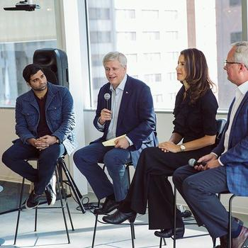 Blend - Our CEO Nima Ghamsari hosting former Canadian Prime Minister Stephen Harper and some of his colleagues at Blend HQ for an inspiring session on leadership and facing the challenges that come with rapid growth.