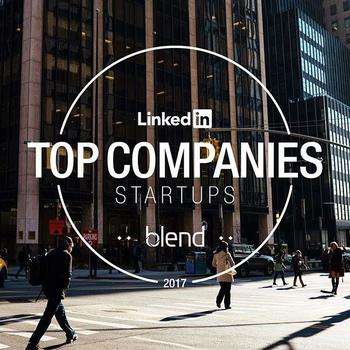 Blend - At Blend, employee experience is everything to us. That's why we're so proud to be on @linkedin's Top Companies | Startups List for 2017.