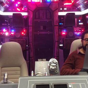 The Walt Disney Company - Disney Streaming Engineer Tam preparing for his talk in the Millenium Falcon - London