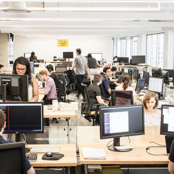 Civis Analytics - An open office environment lends itself to easy communication