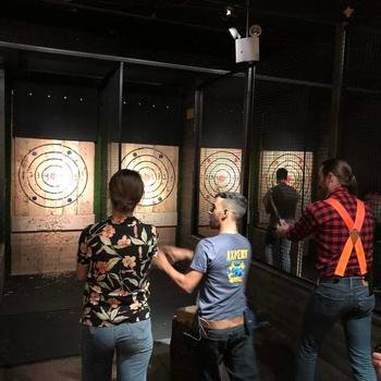 """Rockets of Awesome - The """"Awesome Committee"""" plans regular team outings like axe throwing in Brooklyn!"""