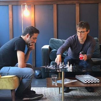 YOYO WALLET LIMITED - Our CTO, Ali, taking a moment out over a game of chess with our super smart engineers.
