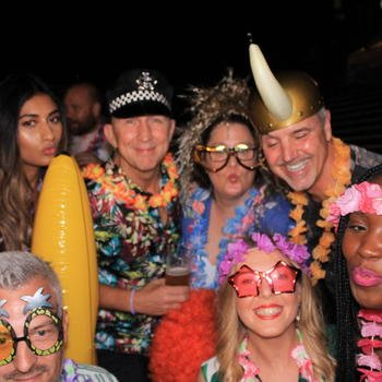 MetaPack - Even our founder likes a good Hawaiian shirt and police hat!