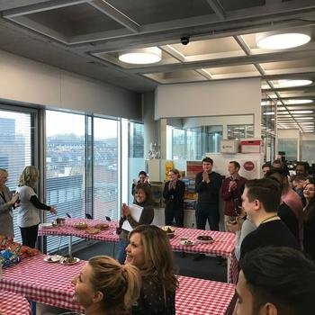 MetaPack - Judges from ITV, our fellow 200 Greys Inn Road inhabitants judging our office bake off competition!