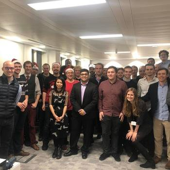 CryptoCompare - The London team before heading out to our annual xmas party