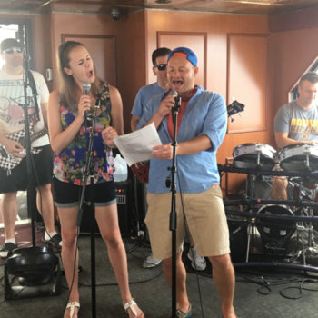 Skyhook Wireless - Rockin' the boat backed by The Jukebox Heroes (a Skyhook tradition) during our 2017 Summer Outing private yacht cruise of Boston Harbor.