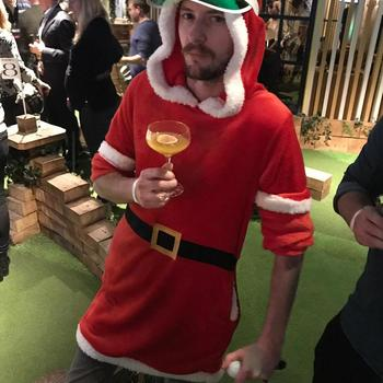 Tray.io - Santa goes to Crazy Golf... Christmas is in summer where he's from.