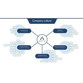 AKTIS - Our Aktis company culture mind map