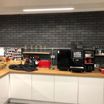 CloudNC - Full stocked kitchen with snacks and soft drinks to keep you going through the day.