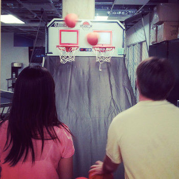 Under Armour - Let's face it: everyone needs a pop-a-shot break sometimes. We may not be a start-up anymore, but we still have our office games.