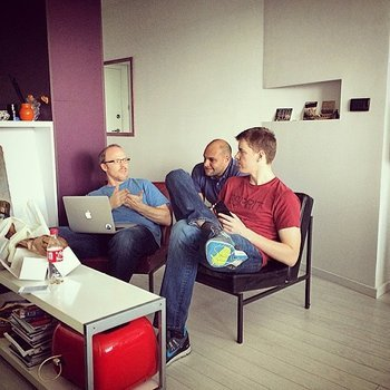 Take the Interview, Inc. - Some of our engineers hanging out in our second office.
