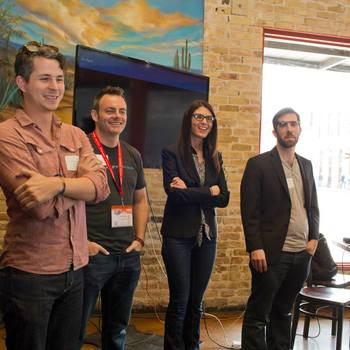 Take the Interview, Inc. - Our CEO, Danielle Weinblatt, presenting with one of our Advisory Board members, Lars Schmidt at SXSW.