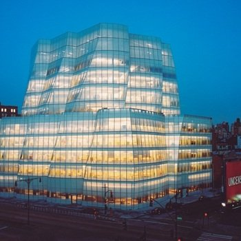 The Daily Beast - IAC building at night