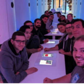 Yieldify - A slightly blurry picture from our AI social evening.