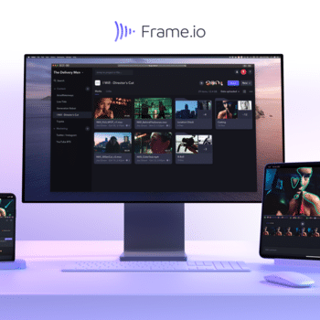 Frame.io, Inc. - A photo of the Frame.io app across iPhone, iMac and iPad.