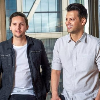 Frame.io, Inc. - Our two cofounders, John Traver on the left and Emery Wells on the right.