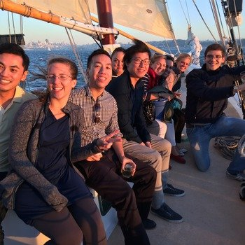 Apptimize - Celebrating our raising our Series A with a sunset sail on the bay