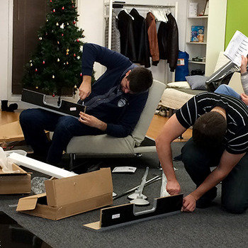 Jetlore - Working hard to build our Foosball table!