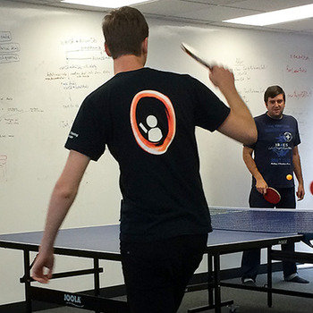 Jetlore - We would beat any startup at a ping-pong tournament. Knowing pingpong is a plus, otherwise, you'll learn fast!