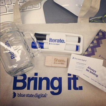 Blue State Digital - A few fun items for your first day.