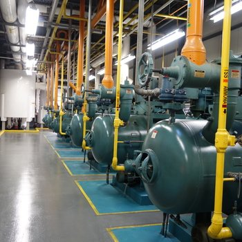 Lineage Logistics, LLC - We play with industrial refrigeration systems. There's about 4,000 horsepower here.