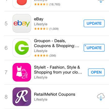 Peekabuy - #7 most downloaded app in App Store Lifestyle