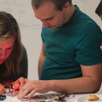 thoughtbot - Each month, we host board game nights, Arduino nights, Vim meetups, technical reading groups, design comunity meetups and other events at our offices.